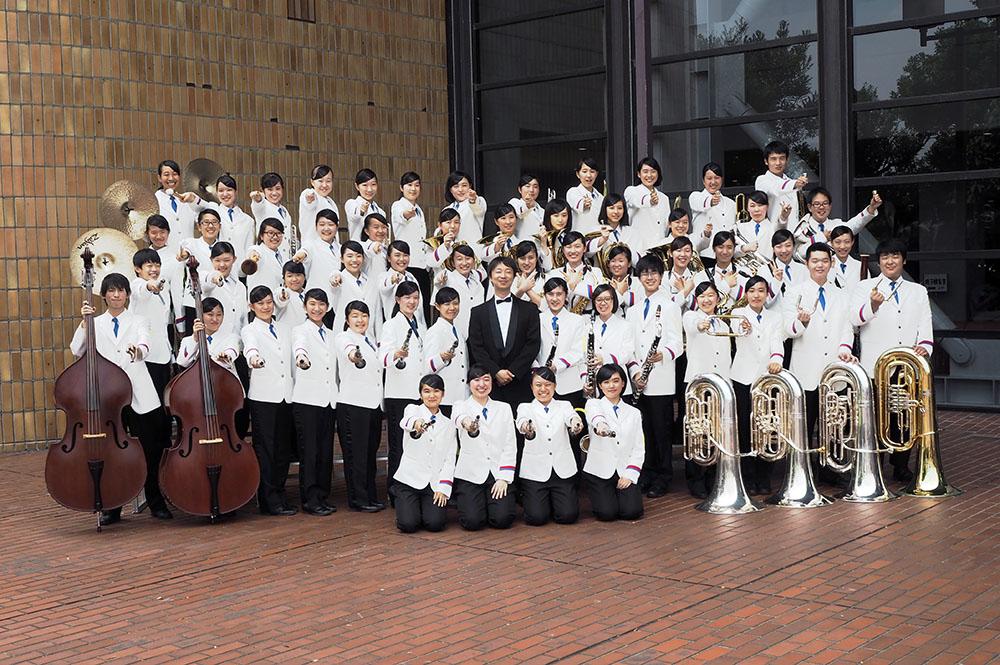 中部日本吹奏楽コンクール県大会の集合写真
